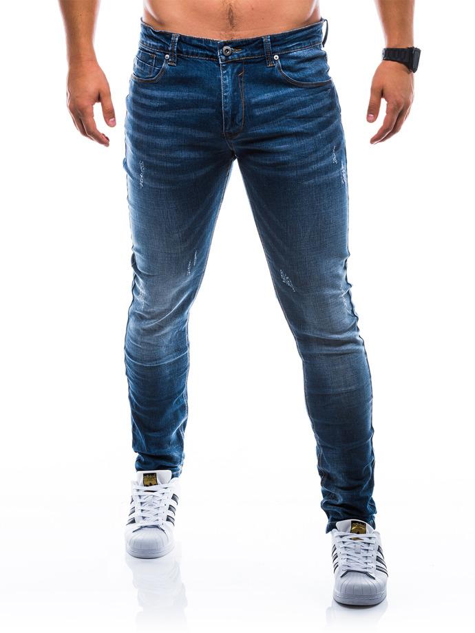 Spodnie męskie jeansowe P785 - granatowe