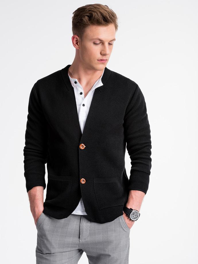 Sweter męski E168 - czarny