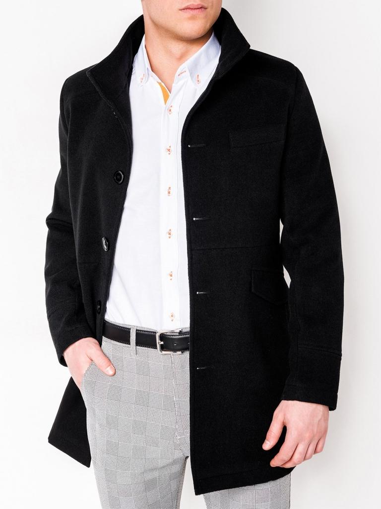 Płaszcz męski VICTOR - czarny