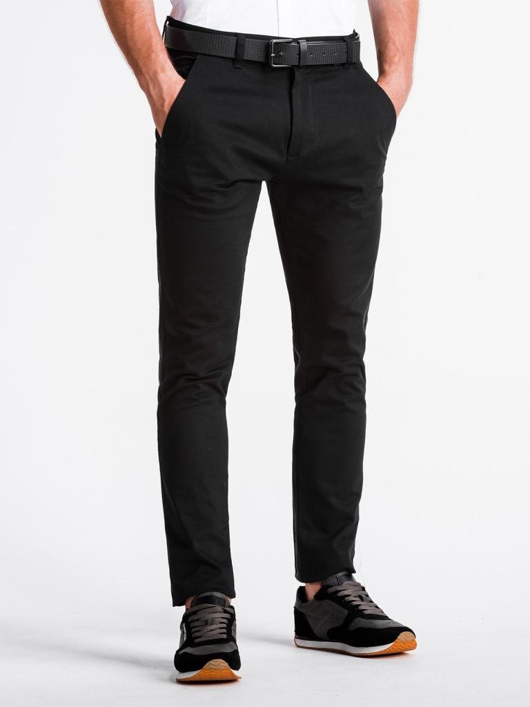 Spodnie męskie chino P830 - czarne
