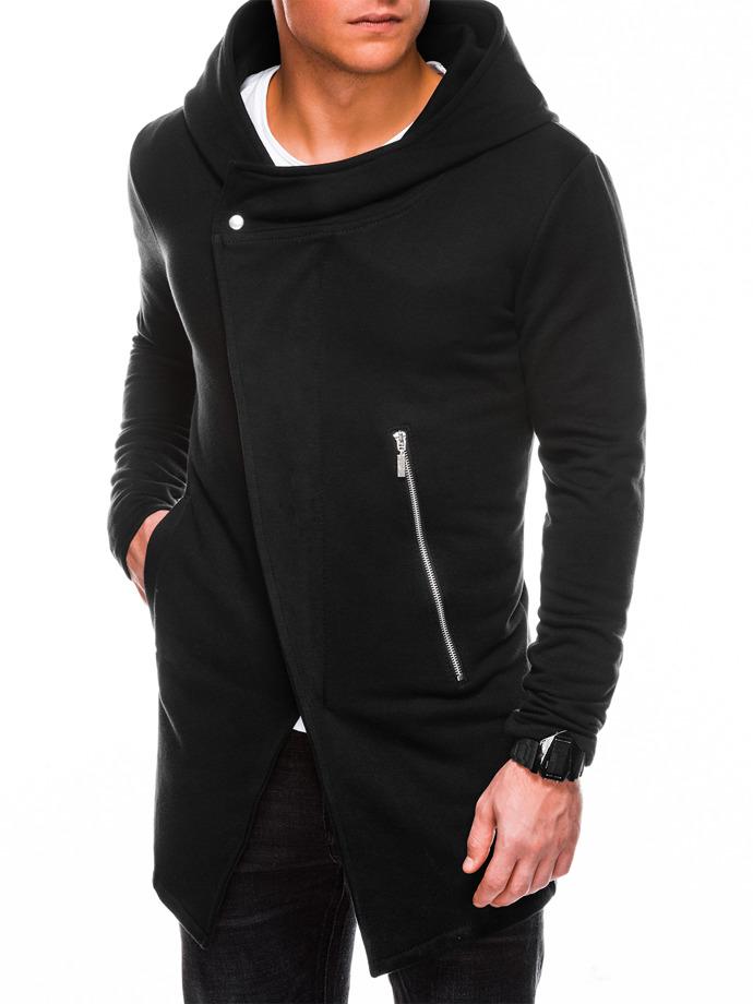Bluza męska rozpinana zkapturem B668 HUGO - czarna