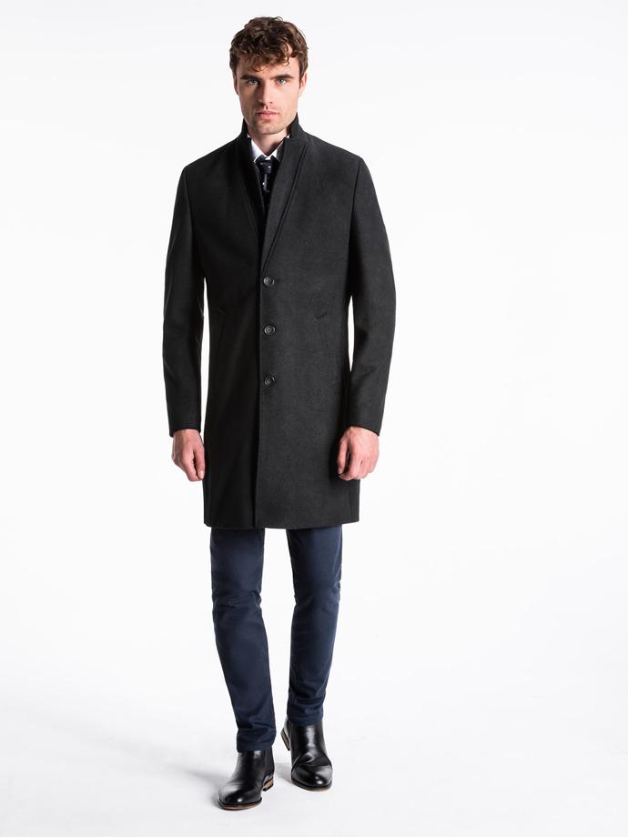Płaszcz męski C425 - czarny