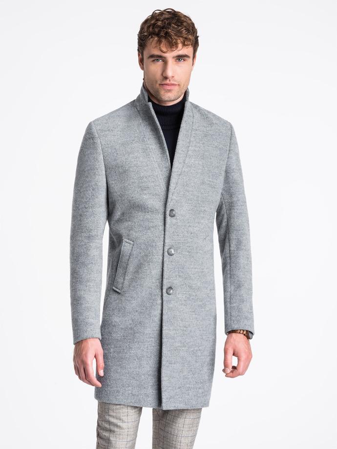 Płaszcz męski C425 - szary