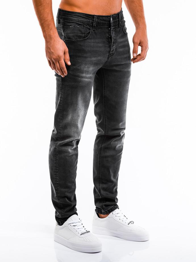Spodnie męskie jeansowe P862 - czarne