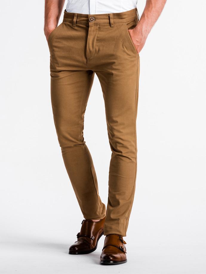 Spodnie męskie chino P830 - rude