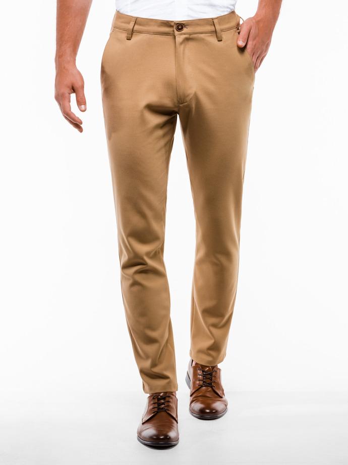 Spodnie męskie chino P832 - rude