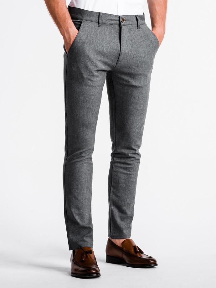 Spodnie męskie chino P832 - szare