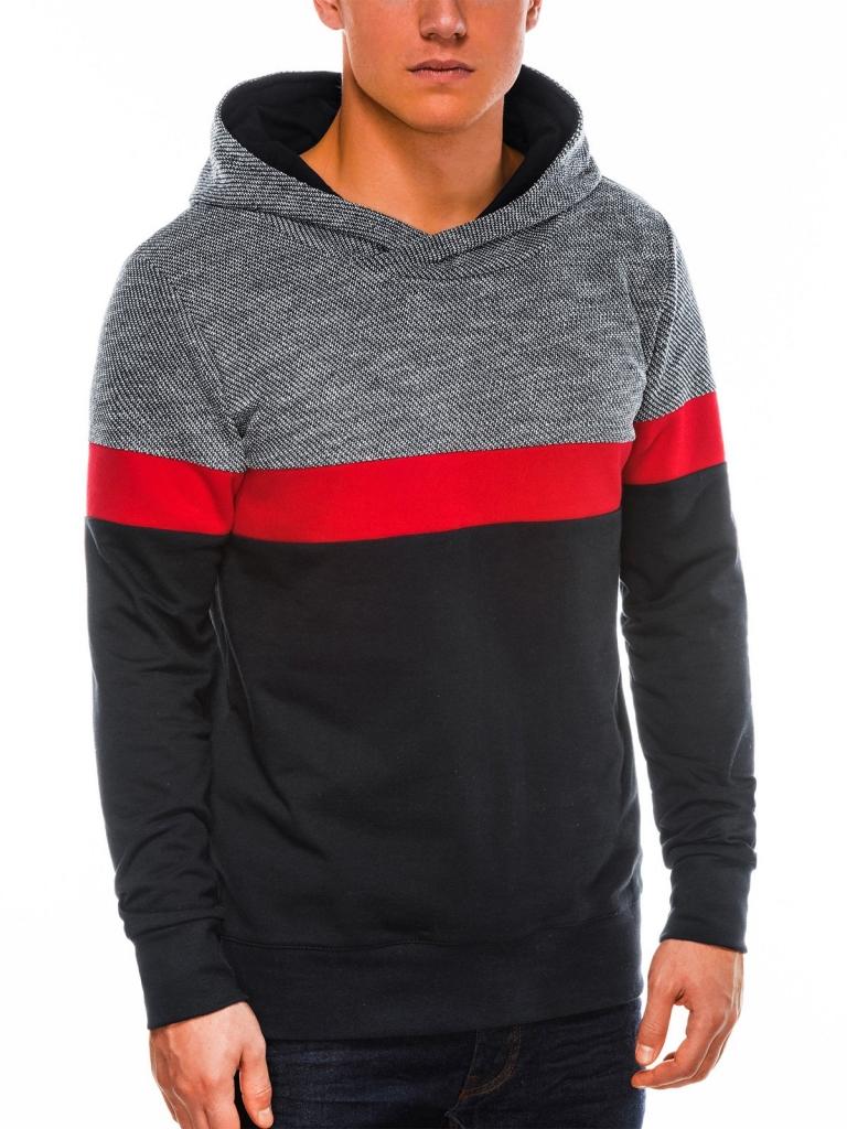 Bluza męska zkapturem B1018 - czarna