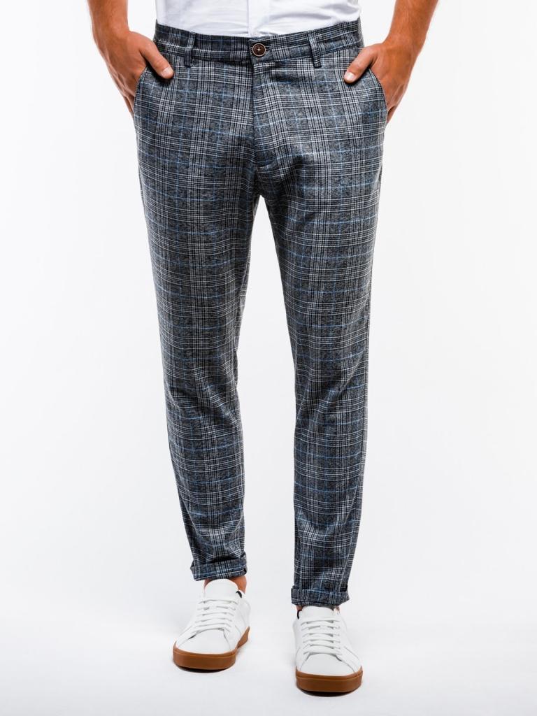 Spodnie męskie chino P848 - czarne