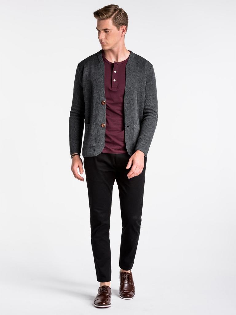 Sweter męski E168 - szary