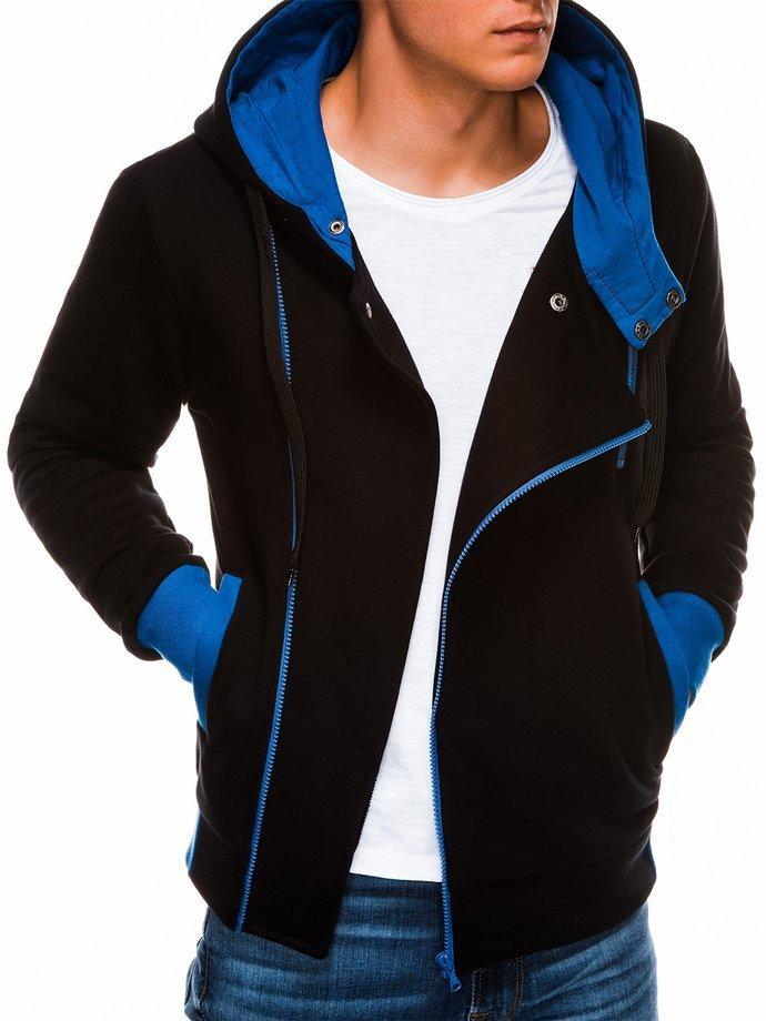 Bluza męska rozpinana zkapturem B297 - czarna