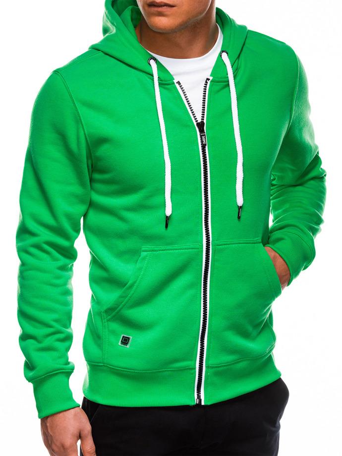 Bluza męska rozpinana zkapturem B977 - zielona