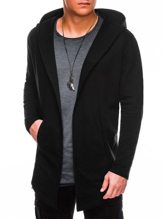 Bluza męska zkapturem B702 - czarna