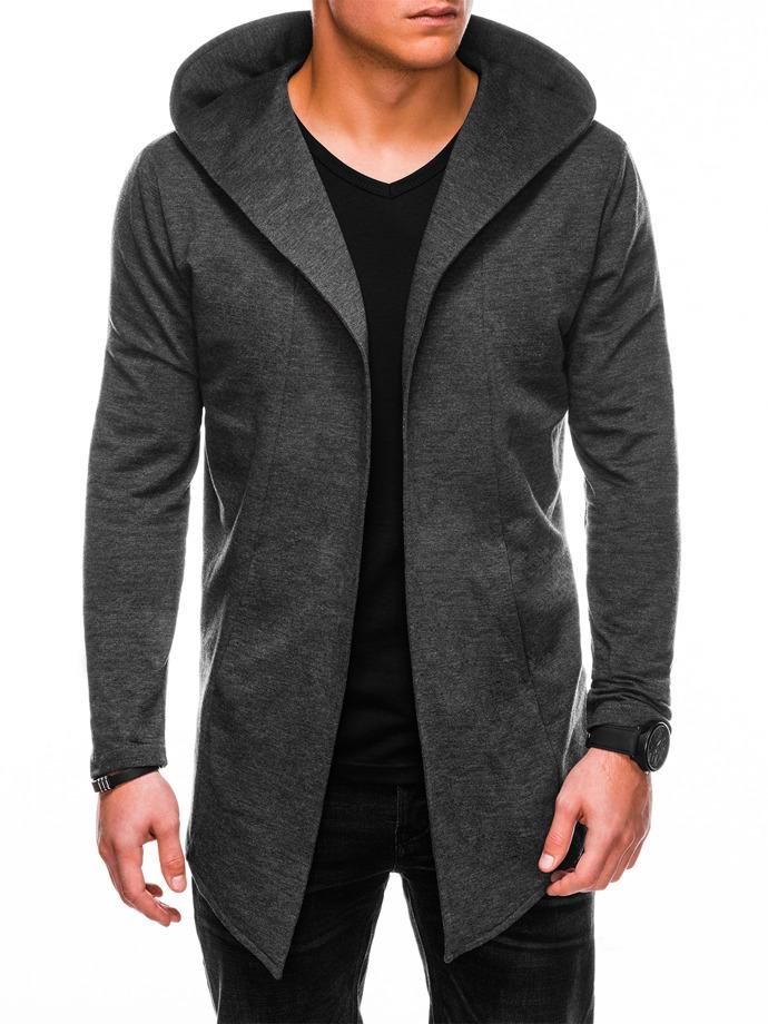 Bluza męska zkapturem B702 - grafitowa