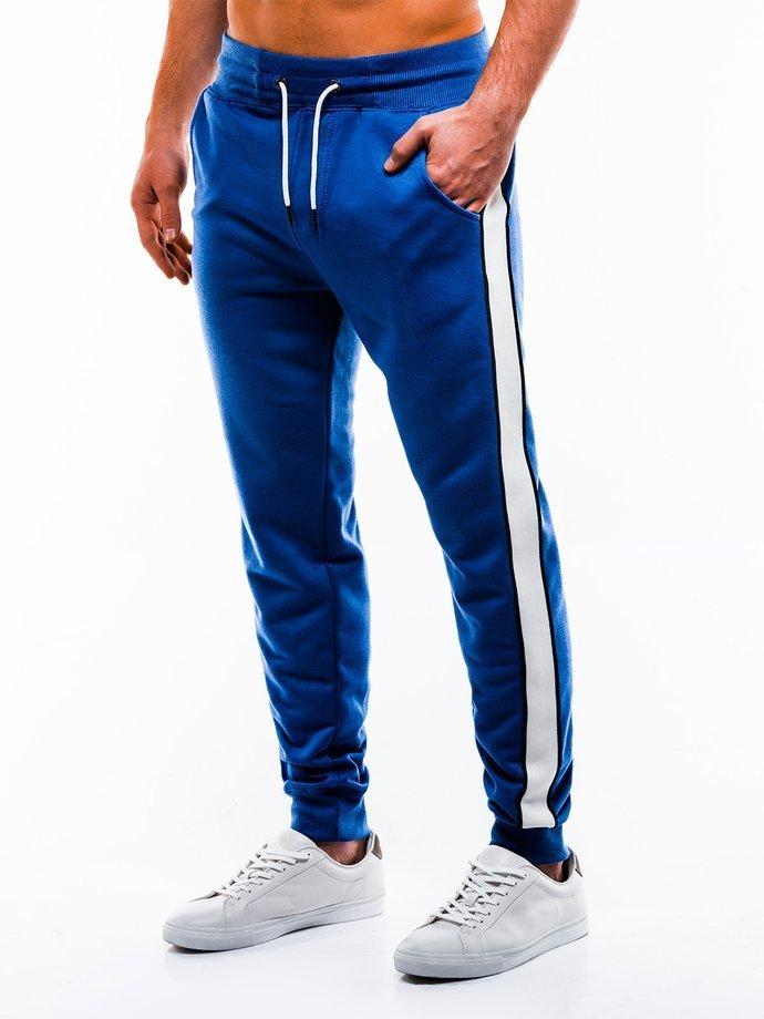 Spodnie męskie dresowe P865 - niebieskie