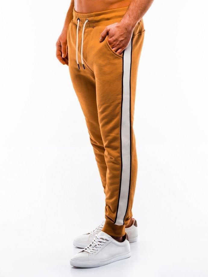 Spodnie męskie dresowe P865 - żółte